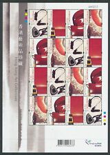 China Hong Kong 2002 Mini S/S Modern Works of Art stamps