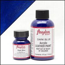 Angelus Acrylic Leather Paint Dark Blue 4oz Colour for Shoes/Sneakers/Jacket/Car