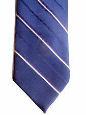 """Guy Laroche Men's Poly/Silk Vintage Tie 55"""" X 3.5"""" Navy w/ multi-color Stripes"""