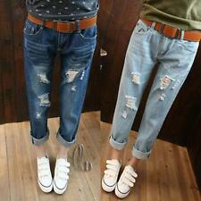 AU SELLER Womens Casual Ripped Distressed Jeans Boyfriend pants p015