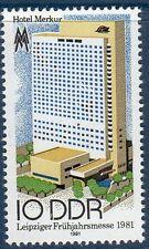 RDA DDR - ** - Hôtel Merkur - Foire de printemps de Leipzig - 1981