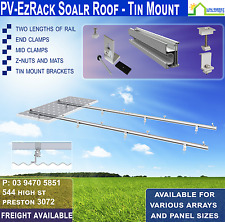 Solar panel Mounting Kit (Tin Roof) FOUR panels up to 1000mm wide