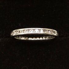 Vintage Platinum & Diamond 0.50ct, half a carat, Full Eternity Ring, Size 0.