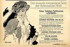 Parfürmerie L. Leichner arte pubblicità promozionale storico di 1914