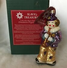 Slavic Treasures Poland Blown Glass Ornament - Jason - Clown w/ Trumpet - Mib