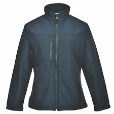 PORTWEST LADIES CHARLOTTE WATER WINDPROOF SOFT SHELL JACKET NAVY - LARGE