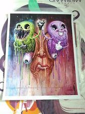 Art Print Signed Alex Pardee & Jason Edmiston SDCC Brightmares Mondo Poster