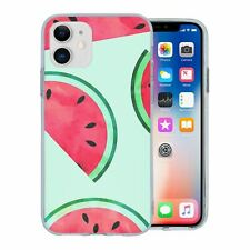 For Apple iPhone 11 Silicone Case Tropical Water Melon Fruit - S770