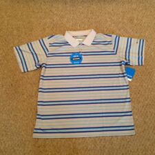 "Men's Columbia ""Reel Seat"" Polo - Size L - Multi-Blue & Grey Striped - NWT"