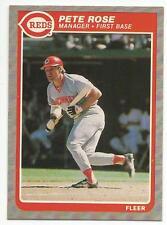 PETE ROSE 1985 Fleer Baseball card #550 Cincinnati Reds NR MT