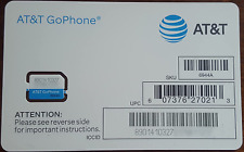 At&T Sim Card, Compatible with Prepaid (GoPhone) and Postpaid At&T Cellular Serv