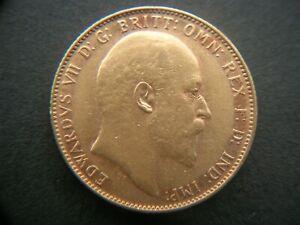 Gold Sovereign 1908 Edward V11  EF  Perth Mint