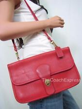 COACH RARE Vintage Red Vermillion Bonnie Cashin Double Sided Flap Shoulder Bag