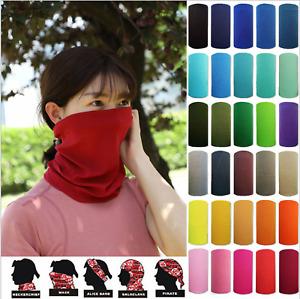 Snood Balaclava Scarf Face Mask Bandana Neck Warmer - Variable colours