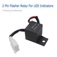 2PIN 12V LED Turn Light Flasher Blinker Relay Signal Rate Control for Motorcycle