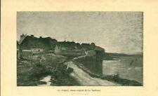 Gravure ancienne 1889 le Tréport dessin de Le Sénéchal issue du livre