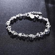 Mujer Pulsera De Cadena Brazalete 925 Plata zorro Cristal Bracelets hyghgyj