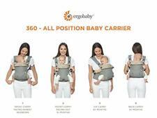 Ergobaby 360 todas las posiciones Baby Carrier (12-45 libras), Negro Puro