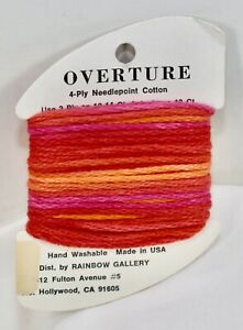 Rainbow Gallery Overture heavy strandable 4 ply cotton #5 over dyed V57 red