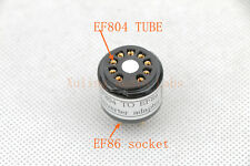 1pc Gold plated EL84 6BQ5 6P14 instead 6973 tube converter adapter