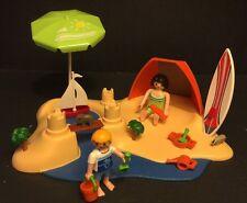 Playmobil 4149 Beach Vacation Holiday Trip Mother Son Beach Toys Mini Animals