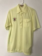 Vintage Yellow Antigua of Scottsdale Large Arizona State Rose Bowl 1987 Polo VTG