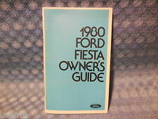 1980 Ford Fiesta NOS Owners Manual