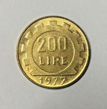 ITALIA REPUBBLICA 200 LIRE 1977 MONETA MOLTO RARA DA COLLEZIONE - FDC -
