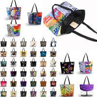 Women's Large Capacity Zipper Handbag Soft Shopping Bag Tote Shoulder Beach Bags