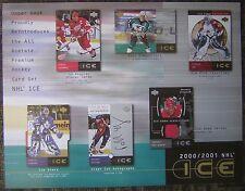 "2000-2001 Upper Deck ""Ice"" NHL Hockey Trading Cards 8x11"" Advertising Sheet"