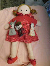 North American Bear Co Dolly Pockets Red Riding Hood Doll 3 Finger Puppets EUC