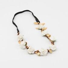 Bridal Flower Festival Wedding Garland Gold leaf Headband Hair band 19 colors