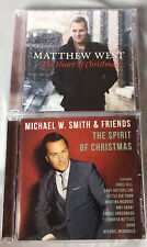 MICHAEL W SMITH The Spirit Of Christmas MATTHEW WEST The Heart 2 CD LOT CCM
