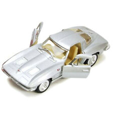 Kinsmart 1963 Chevrolet Corvette Stingray Diecast Car 1:38 KT5358D Silver