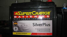 SUPERCHARGE SILVER PLUS  MAINTENANCE FREE 55D23L CAR BATTERY SUIT CAMRY MAZDA