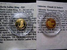 Worlds Smallest Gold Coin, Liberia MiniGold24K Pure Gold Coins .73 Gram & COA.