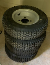 New listing 4 tires and rims, 4.80/4.00-8 Go Kart TIRE RIM , GARDEN CART TIRES AND RIMS
