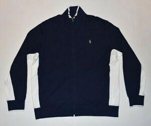 POLO RALPH LAUREN FULL ZIP Performance Style Cotton Track Jacket Men XL B25