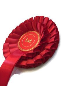 Rosette award ribbon, 1 or 2 tier. Customisable. Champion show grade