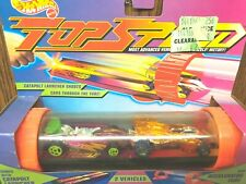 Hot Wheels Top Speed Catapult Launcher Tube Corkscrew StingShot Solar Flare