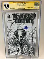 Manifest Destiny # 29 CGC 9.8 NM/MT SS Signed by Matthew Roberts SPAWN sketch