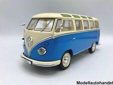 VW Volkswagen T1 Samba Bus Bulli 1959 - blau/ hellbeige - 1:18 KK-Scale