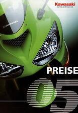 Kawasaki Preisliste 2005 Motorrad Preise 1400 GTR ZZR VN2000 VN900 Z1000 Versys