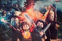 LEGO LORD OF THE RINGS THE HOBBIT A4 PICTURE PRINT A4 CHILDREN WALL ART