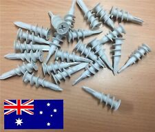 BULK - 13mm x 42mm NYLON Wall Mate Plug Wallmate Anchor Plasterboard Fixings