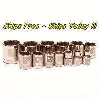 Craftsman 13pc 3/8 Drive 6pt Point SAE STD Inch Laser Etch Easy Read Socket Set