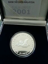 Willie: 2001 Malaysia Sea Games  Rm10 Silver Proof coin