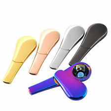 Portable Spoon Smoking Pipe Magnetic Metal Tobacco Accessories default  rainbow