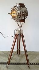 LOT OF 6 PCS HOLLYWOOD SEARCHLIGHT SPOT LIGHT FLOOR LAMP BIG LIGHT WOODEN TRIPOD