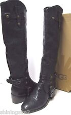 UGG ITALIAN COLLECTION CORTONA WEAVE WOMEN BOOTS WOVEN BLACK US 7 /UK 5.5 /EU 38